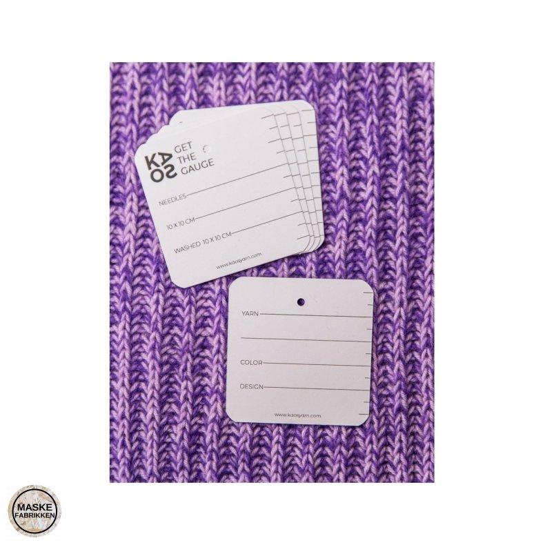 Notekort til strikkeprøver, 10 stk - KAOS