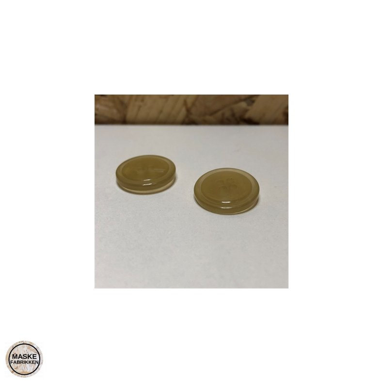 Lys knap i hornlook 4-huls, 15 mm