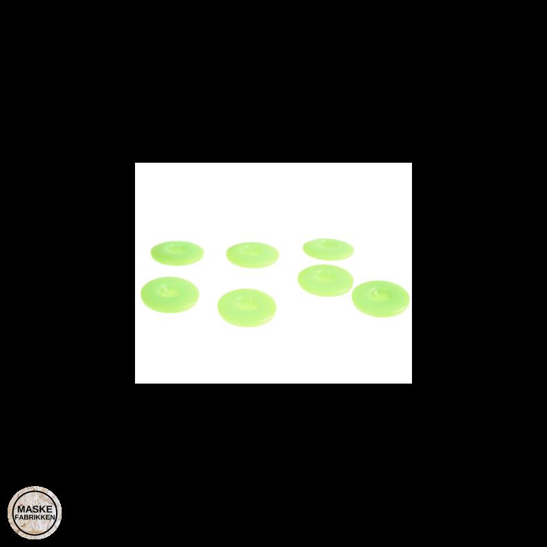 Knap 4-hul 20 mm - neon grøn